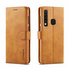 For Samsung Galaxy S10 A9 A7 2018 A6 A8 Genuine Leather Flip Wallet Case Cover