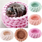 30cm DIY Knitting Pet Nest Yarn Cat Dog Hand Knitted Washable House Gift Natural