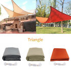 Sun Shade Triangle Canopy Sail Waterproof Patio Awning Garden UV Block 9.8FT New