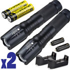 2 Sets Bright Military Grade Tactical Flashlight Torch LED Gladiator X2000, AAA