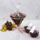 NEW Thumbs Up Diamond Decanter Set With Stand 4pce