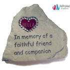 Personalized Pet Tag Memorial Monument Cemetery Grave Head Stone Dog Cat ID Tag