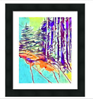Giclee Fine Art Print Montana Mountains Trees  8x10, 11x14, 16x20, 20x30 Blue