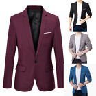 Mens Suit Blazer Solid Formal Coat Jacket Wedding Party Casual Outwear