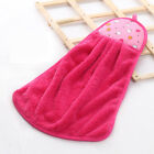 2PCS Home Kitchen Bathroom Hanging Towel Coral Velvet Cleaning Soft Hand Towels
