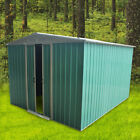 Metal Garden Shed Outdoor Storage House Apex Roof Sliding Door 8x4 8x6 8x8 8x10'