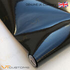 5D Carbon Fibre Vinyl Film - Sheet Wrap Sticker Bubble Free Car Black Gloss  <br/> With or Without Felt Squeegee * TOP QUALITY * UK SELLER