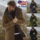 Men Faux Fur Lambswool Jacket Winter Warm Coat Outwear Long Thicken Parka Lot