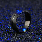 Men&Women Stainless Steel Titanium Band Ring Engagement Party Jewelry Size 6-13 image