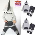 UK Kid Baby Boys Shark Costume Tracksuit Infants Toddler 2Pcs Trouser Outfit Set