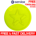 Fluorescent Neon Yellow Star Embossed Plastic Tokens 29mm Event NYE Hen Do Party
