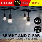11/20M Connectable Festoon String Lights Xmas Party Wedding Garden Patio Marquee