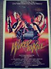 1987 Wired to Kill Orig 1-Sheet Movie Poster-Longstreth- Folded