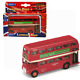 Red London Bus Die-cast Pull Back and Go Double Decker Toy Welly Model New