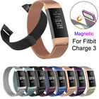 For Fitbit Charge 3 Wristband Metal Stainless Milanese Magnetic Loop Band Strap image