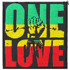 Rasta Reggae Africa Funny Peace Love Sign Hippie Boho 70's iron on patches #4