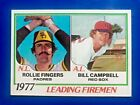 1978 Topps #208 Leading Firemen ROLLIE FINGERS Padres / BILL CAMPBEL REDSOX