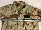 DESERT STORM VINTAGE TERRY MANUFACTURE CHOCOLATE CHIP 6 COLOR CAMO COMBAT JACKET