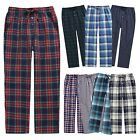 "Men's Plaid Check Pajama Plush Flannel Winter Lounge Pants ""TINFL PM-SB"" S-XXL"
