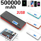 Portable 50000mAh  Power Bank 2USB LCD Battery Charger Andriod Iphone Phone MA