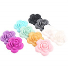 Baby Love Home 10pcs Mix Color Silicone Flower Shaped Beads Handmade Teething