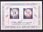 USA 1956 Philatelic Exhibition Miniature sheet Mint