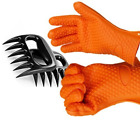 PMLAND Silicone BBQ Gloves with Bear Claw Meat Shredder
