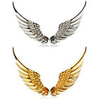 1pair 3D Stereo Metal Angel Wing Auto Car Sticker Badge Emblem Chrome