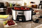 CROCK-Pot 6-Quart Cook Carry Slow Cooker with Digital Timer, Stainless Steel
