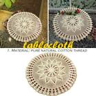Handmade Crochet Hook Flower Cotton Tablecloth Round Table Cover Lace Placemat