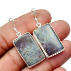 Moss Agate Solid 925 Sterling Silver Earring Jewelry SE-13095
