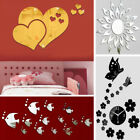 Uk 3d Diy Removable Mirror Wall Sticker Bedroom Living Room Decal Family Decor