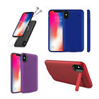 External Battery Armor Slim Case Power Bank Charging Cover For iPhone XS Max 6.5