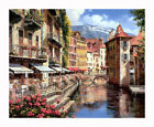 HD Art Fabric Printed Painting The France: Anna Afternoon View Multi Sizes#P617