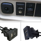 3.5mm AUX Extension Cable Lead Mounting Panel Boat Car Dash Flush Mount USB Port