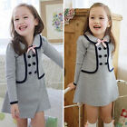 Toddler Kids Baby Girl Spring Skater Dress Long Sleeve Party Dress Skirt Clothes