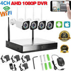 4CH Wireless Wi-Fi 1080P IP Camera HDMI NVR Outdoor Home Security IR CCTV System