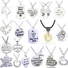 Family Best Friend Silver Necklace Pendant Chains Jewelry Chokers Women Jewelry