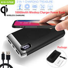 Qi Wireless Charger 10000mAh Power Bank External Battery for iPhone...