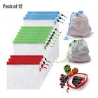 BETEVE Reusable Mesh Produce Bags Premium Washable Eco Friendly Bags with Tare