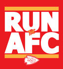 Kansas City Chiefs RUN the AFC shirt NFL Playoffs Superbowl Super Bowl t-shirt $24.0 USD on eBay