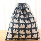 Fashion three size Unisex Printing Bags Drawstring Rucksack women bag Travel image