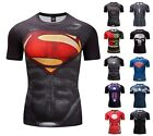 Mens Fitness Gym T-shirt Marvel Superhero Compression Armour Base Layer Top image