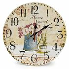 LOHAS Home 12 Inch Silent Vintage Design Wooden Round Wall  Assorted Colors