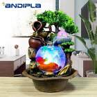 Water Fountain 110V-220V  Resin  Flowing Water Fountain Glass Fish Tank Desktop