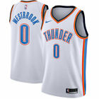Russell Westbrook 0 Oklahoma City Thunder Mens White Association Jersey
