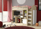 AM Range : Junior Combi Bed with Computer Desk,Wardrobe, Book Shelf & 3 Drawers