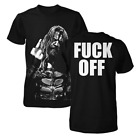 Rob Zombie F**K OFF MIDDLE FINGER T-Shirt NEW 100% Authentic & Official Rare!!! image