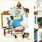 "25W""x32H"": TRIPLE SELF PORTRAIT by NORMAN ROCKWELL - CHOICES of CANVAS"
