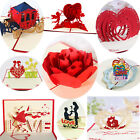 Внешний вид - Handmade 3D Pop Up Greeting Cards Birthday Valentines Love Gift Holiday Postcard